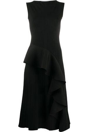 OFF-WHITE Damen Strickkleider - Ruffled-detail knitted dress