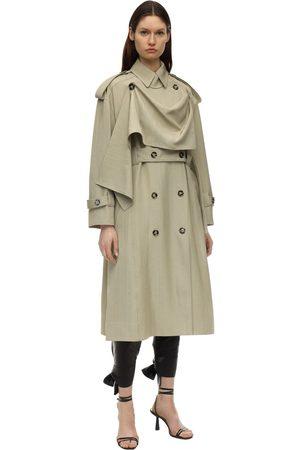 Proenza Schouler Over Viscose & Silk Trench Coat