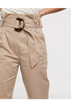 & OTHER STORIES Soft belted tapered trousers in nougat
