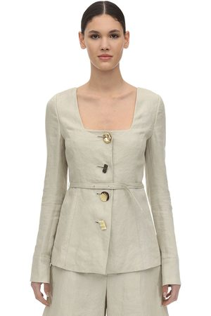 REJINA PYO Damen Jacken - Martina Linen & Cotton Twill Jacket