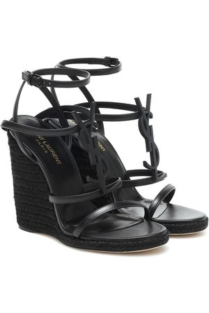 Saint Laurent Wedge-Sandalen Cassandra 115