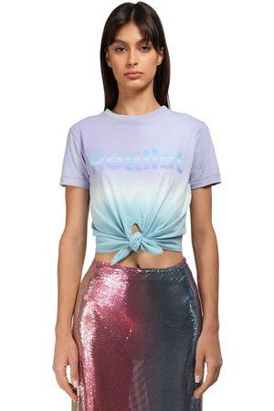 Paco rabanne Tie Dye Cotton T-shirt W/knot