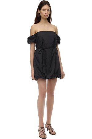 Staud Off-the-shoulder Nylon Playsuit