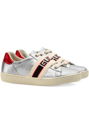 Gucci Jungen Sneakers - Toddler Ace sneaker with Gucci stripe