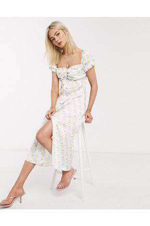 Stefania Viadani Stefania Vaidani stella venice beach deck chair print midi dress in cream