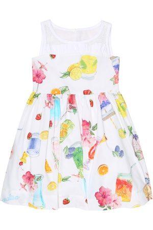 MONNALISA Bedrucktes Kleid aus Baumwolle