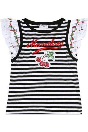 MONNALISA Gestreiftes T-Shirt aus Baumwolle