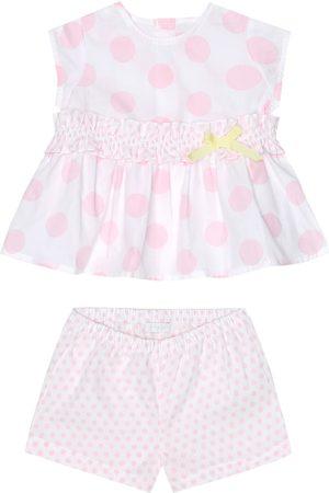 Il gufo Baby Set aus Kleid und Höschen aus Baumwolle