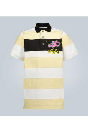 Prada Bedrucktes Poloshirt mit Streifen