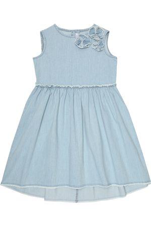 Il gufo Kleid aus Denim
