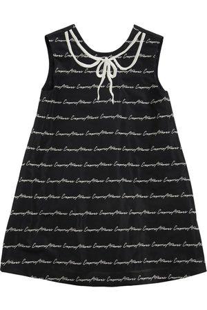 Emporio Armani Partykleid Aus Taft Mit Logojacquard