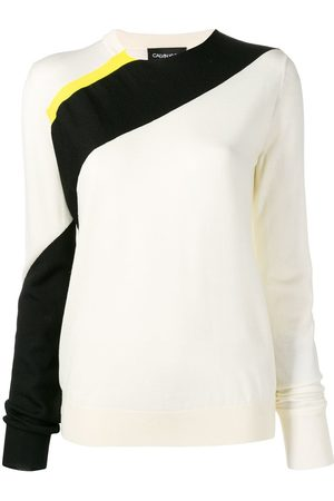 Calvin Klein Damen Strickpullover - Diagonal stripe jumper