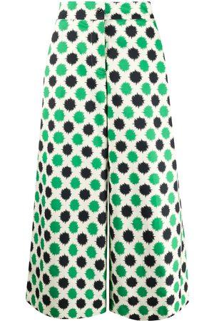 La Doublej Printed wide leg trousers