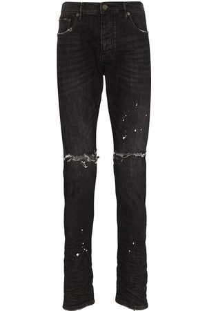 Purple Brand Herren Slim - Distressed ripped knee jeans