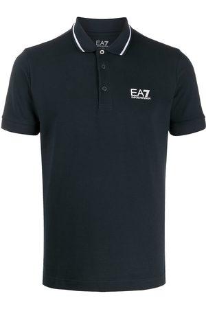 EA7 Contrast trim polo shirt