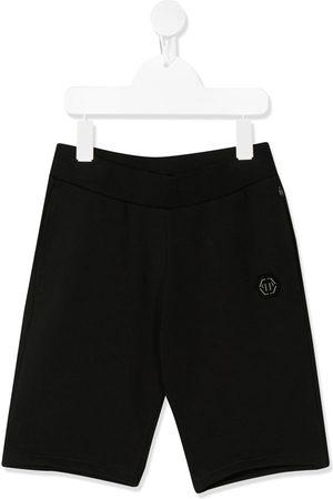 Philipp Plein Jungen Shorts - Embroidered logo bermuda shorts