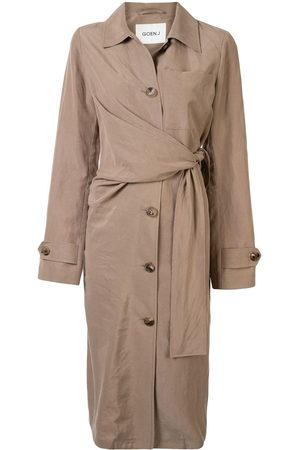 GOEN.J Waist-tied trench coat