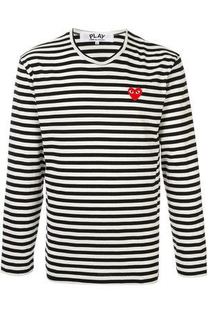 Comme Des Garçons Play Herren Shirts - Embroidered logo T-shirt