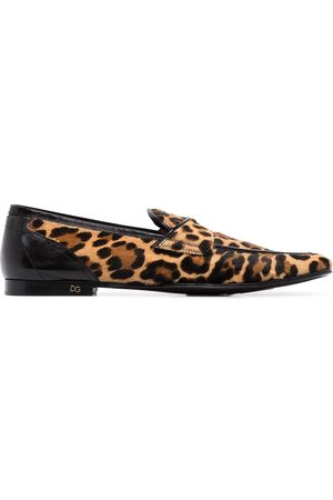 Dolce & Gabbana Erice leopard print loafers