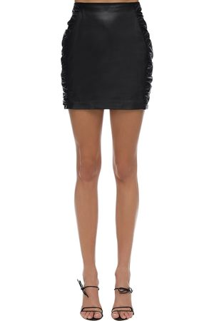 Zeynep Arcay Leather Mini Skirt
