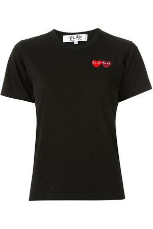 Comme des Garçons Damen Shirts - Logo embroidered crew neck T-shirt