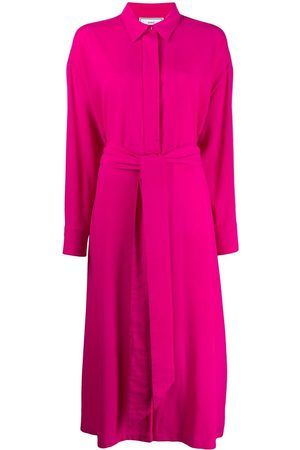 Ami Shirt collar belted jumpsuit