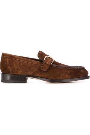santoni Slip-on buckled loafers