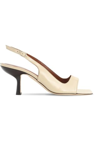 By Far 80mm Lopez Leather Slingback Sandals