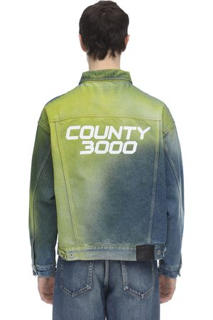 MARCELO BURLON Herren Jeansjacken - County 3000 Spray Over Denim Jacket