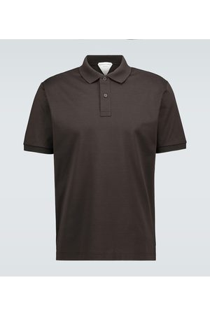 Bottega Veneta Kurzarm-Poloshirt aus Baumwolle