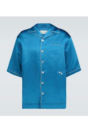 WALES BONNER Pyjama-Hemd aus Satin