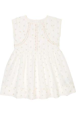 BONPOINT Kleid Fiana aus Baumwolle und Seide