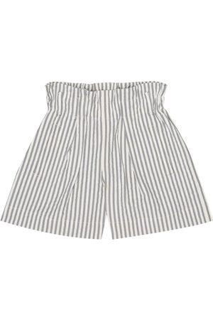 Brunello Cucinelli Gestreifte Shorts aus Seersucker