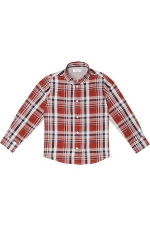 Brunello Cucinelli Hemd aus Baumwolle und Leinen