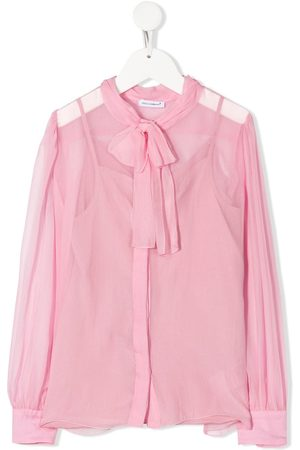 Dolce & Gabbana Sheer pussy-bow blouse