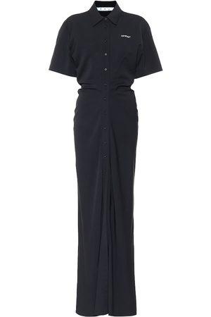 OFF-WHITE Damen Freizeitkleider - Hemdblusenkleid aus Crêpe