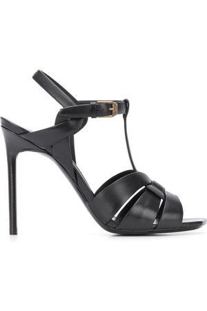 Saint Laurent Woven leather heeled sandals