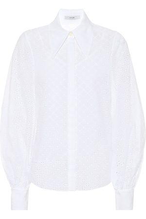 Erdem Damen Lange Ärmel - Bluse Eula aus Baumwolle