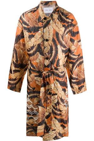 CMMN SWDN Herren Trenchcoats - Leaf-print belted trench coat