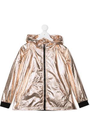 Le pandorine Mädchen Regenjacken - Metallized hooded jacket