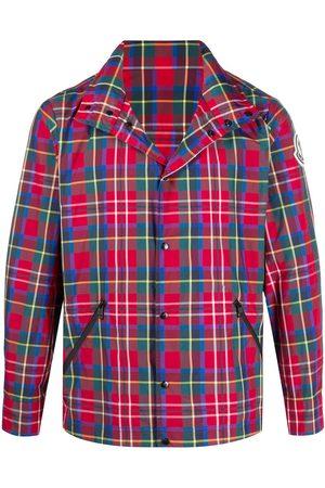 Moncler Tartan print windbreaker jacket