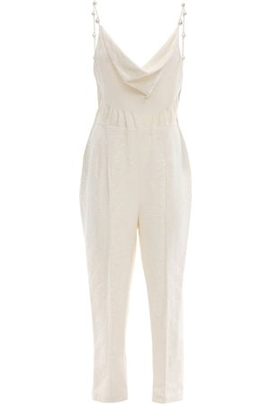 Danielle Frankel Silk Jumpsuit W/ Mother Of Pearl Detail