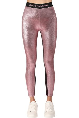 Paco rabanne Stretch Lurex Jersey Leggings