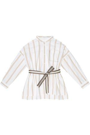 Brunello Cucinelli Gestreifte Bluse aus Baumwolle