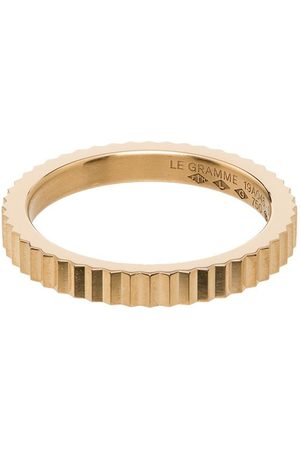 Le Gramme Herren Ringe - 18kt single Guilloche ring
