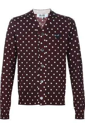 Comme des Garçons Embroidered heart polka dot cardigan