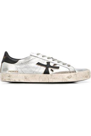 Premiata Low top Steven distressed-effect sneakers