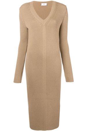 AMI Paris Damen Freizeitkleider - Long Dress V Collar