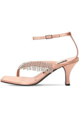 Les Petits Joueurs Damen Sandalen - 70mm Ardith Satin & Crystals Sandals