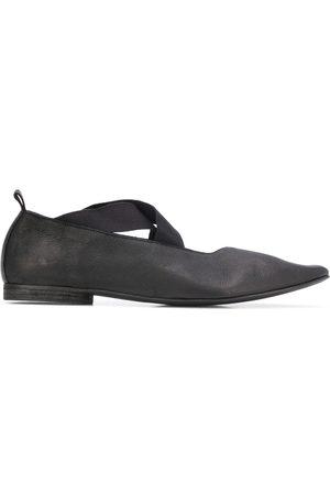 UMA WANG Crisscross strap pointed toe ballerinas